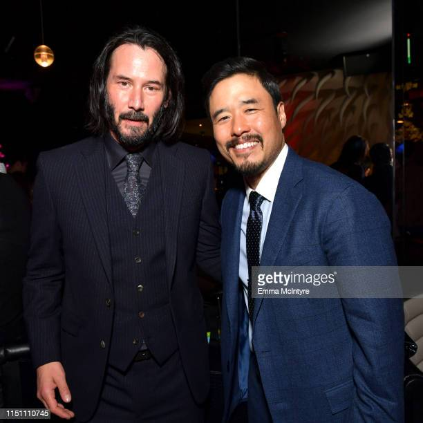 Keanu Reeves and Randall Park attend the afterparty for the world premiere of Netflix's 'Always Be My Maybe' at STK on May 22 2019 in Westwood...