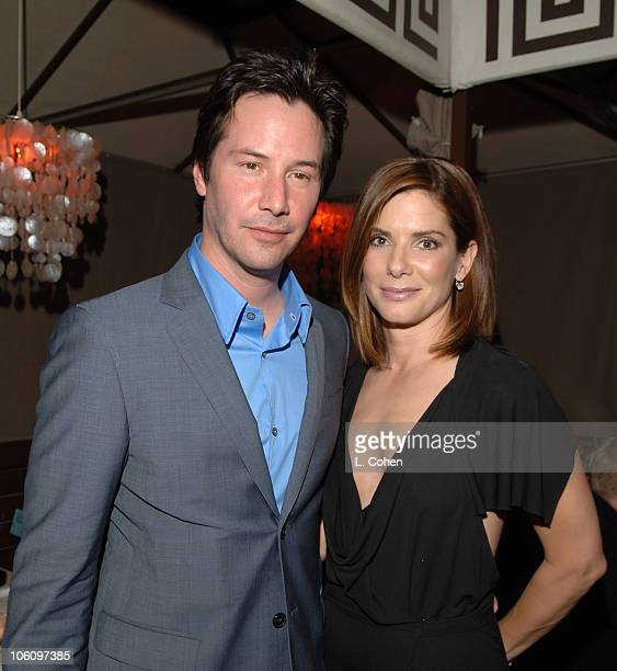 Keanu Reeves and Sandra Bullock during 'The Lake House' Premiere After Party at Cabanna Club in Hollywood California United States
