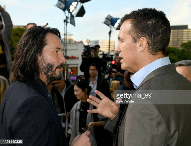 Keanu Reeves and Scott Stuber head of original films at Netflix arrive at the premiere of Netflix's Always Be My Maybe at the Regency Village Theatre...