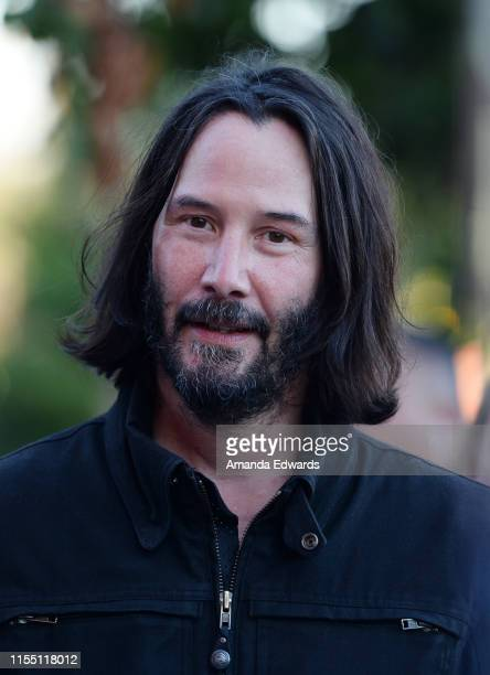 Keanu Reeves arrives at the LA Special Screening of Amazon's Too Old To Die Young at the Vista Theatre on June 10 2019 in Los Angeles California