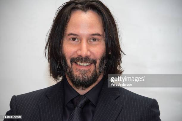 Keanu Reeves at the John Wick Chapter 3 Parabellum Press Conference at the Four Seasons Hotel on April 28 2019 in New York City