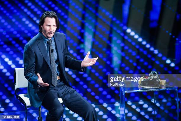 Keanu Reeves attends 67 Sanremo Festival at Teatro Ariston on February 8 2017 in Sanremo Italy