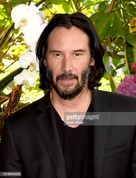 Keanu Reeves attends a photo call for Regatta's Destination Wedding at the Four Seasons Hotel Los Angeles at Beverly Hills on August 18 2018 in Los...