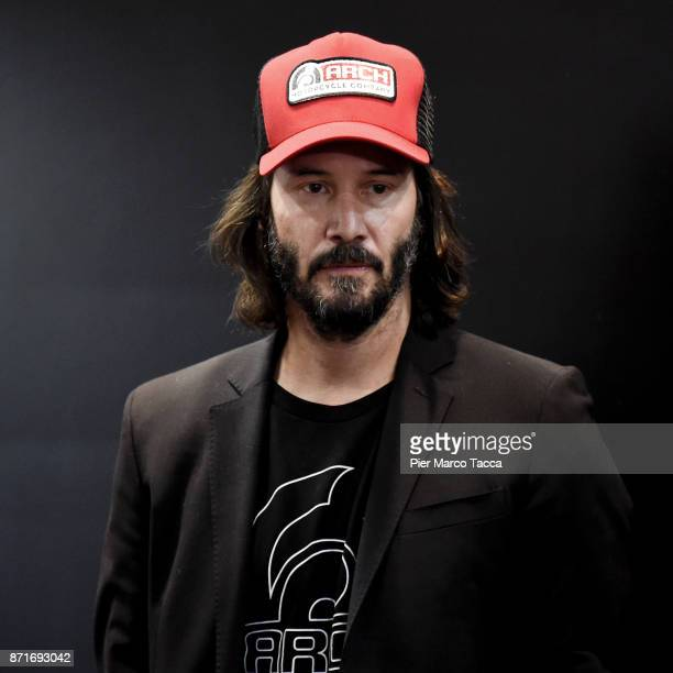 Keanu Reeves attends Arch press conference at EICMA 2017 the International Motorcycle Fair on November 8 2017 in Milan Italy