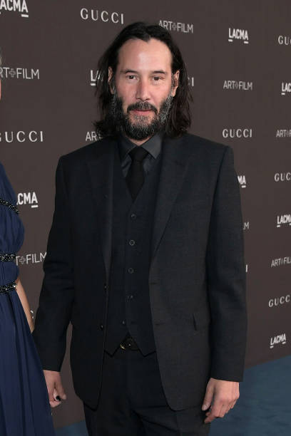 Keanu Reeves attends the 2019 LACMA 2019 Art Film Gala Presented By Gucci at LACMA on November 02 2019 in Los Angeles California