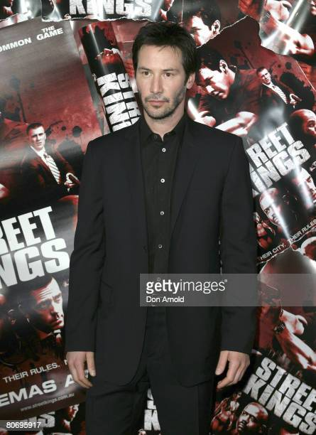 Keanu Reeves attends the Australian premiere of `Street Kings' at the George Street Greater Union cinemas on April 15 2008 in Sydney Australia