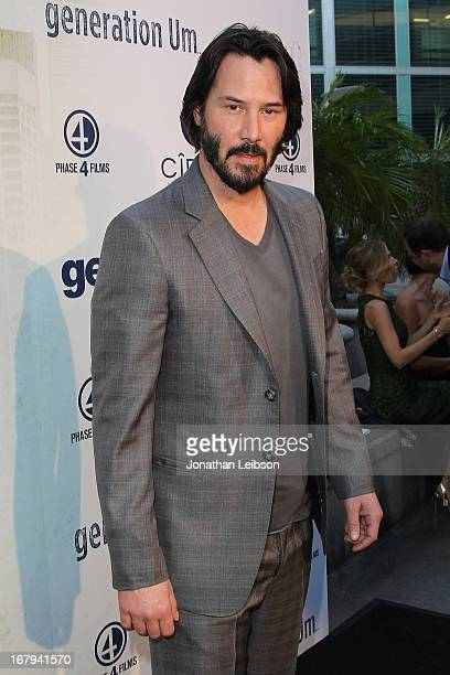 Keanu Reeves attends the GenArt Presents 'Generation Um' Powered By CIROC Vodka at ArcLight Hollywood on May 2 2013 in Hollywood California