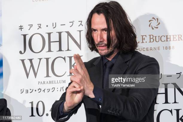 Keanu Reeves attends the Japan premiere of 'John Wick Chapter 3 Parabellum' at Roppongi Hills on September 10 2019 in Tokyo Japan