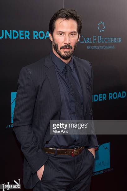Keanu Reeves attends the 'John Wick' New York Premiere at the Regal Union Square Theatre Stadium 14 on October 13 2014 in New York City