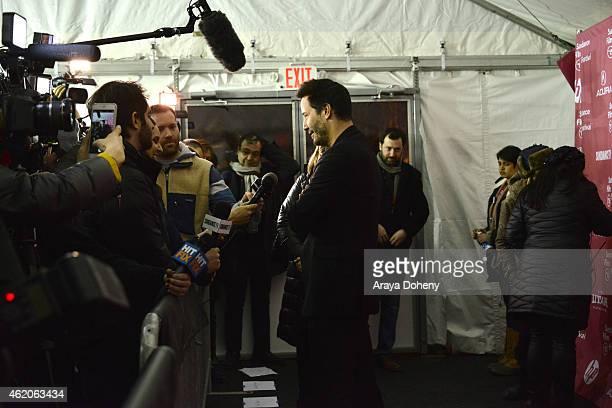 Keanu Reeves attends the Knock Knock Premiere 2015 Sundance Film Festival on January 23 2015 in Park City Utah