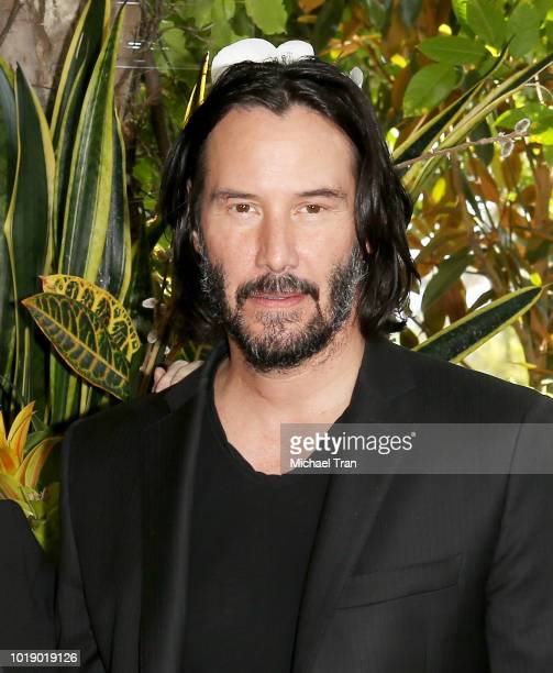 Keanu Reeves attends the photo call for Regatta's 'Destination Wedding' held at Four Seasons Hotel Los Angeles at Beverly Hills on August 18 2018 in...