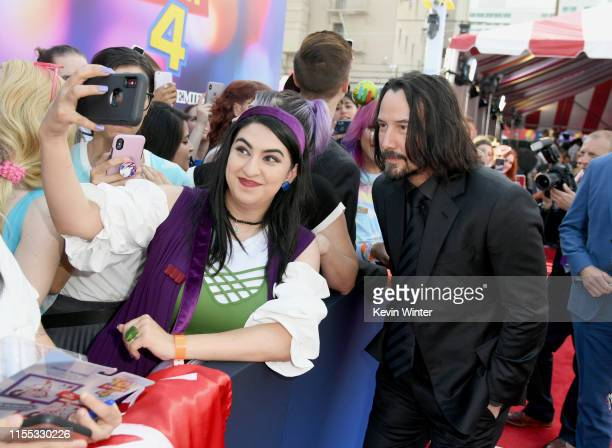 Keanu Reeves attends the premiere of Disney and Pixar's Toy Story 4 on June 11 2019 in Los Angeles California
