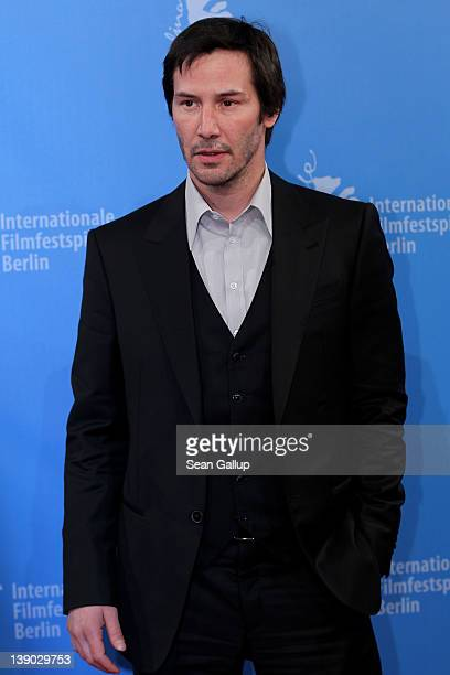 Keanu Reeves attends the Side By Side Premiere during day seven of the 62nd Berlin International Film Festival at the Haus der Berliner Festspiele on...