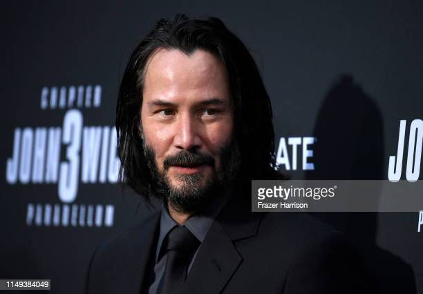 Keanu Reeves attends the special screening of Lionsgate's John Wick Chapter 3 Parabellum at TCL Chinese Theatre on May 15 2019 in Hollywood California
