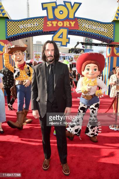 Keanu Reeves attends the world premiere of Disney and Pixar's TOY STORY 4 at the El Capitan Theatre in Hollywood CA on Tuesday June 11 2019
