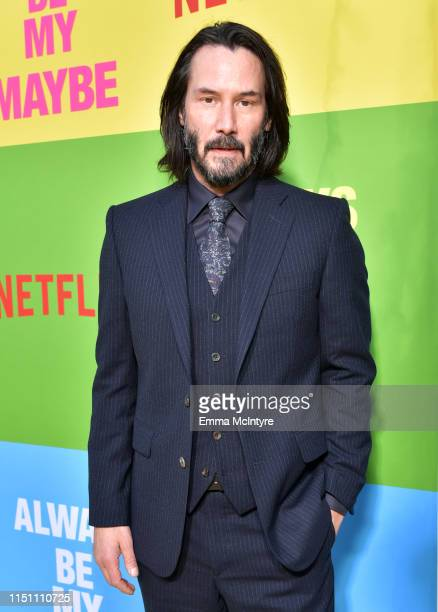 Keanu Reeves attends the world premiere of Netflix's 'Always Be My Maybe' at Regency Village Theatre on May 22 2019 in Westwood California