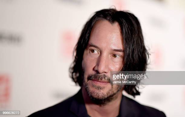 Keanu Reeves attends theSiberia New York Premiere at The Metrograph on July 11 2018 in New York City