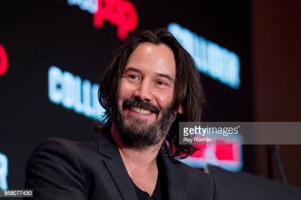 Keanu Reeves discusses Replicas during 2017 New York Comic Con Day 1 on October 5 2017 in New York City
