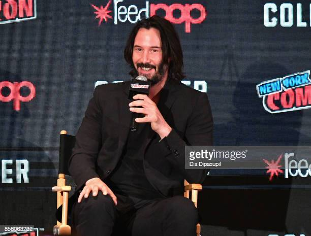 Keanu Reeves discusses Replicas during the 2017 New York Comic Con Day 1 on October 5 2017 in New York City