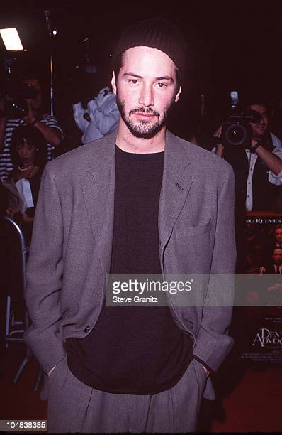 Keanu Reeves during Devil's Advocate New York Premiere at Mann Village Theatre in Westwood California United States