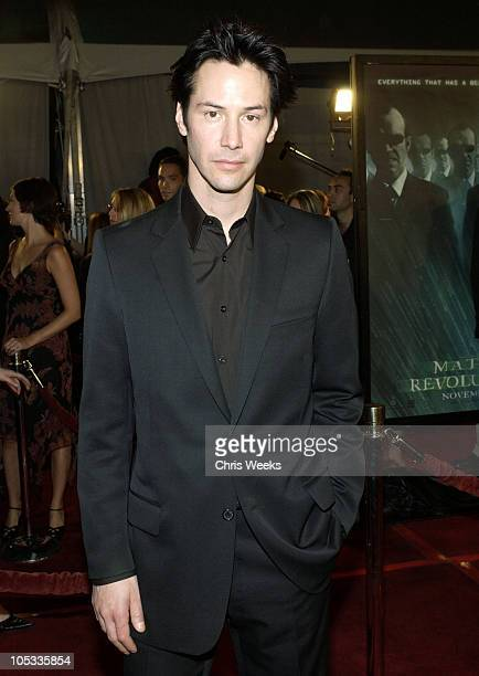 Keanu Reeves during 'Matrix Revolutions' Los Angeles Premiere Arrivals at Walt Disney Concert Hall in Los Angeles California United States