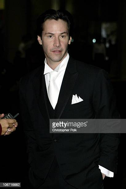 Keanu Reeves during The 17th Annual American Cinematheque Award Honoring Denzel Washington - Arivals and Press Room at Beverly Hilton Hotel in...