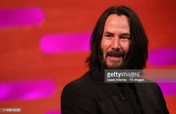 Keanu Reeves during the filming for the Graham Norton Show at BBC Studioworks 6 Television Centre Wood Lane London to be aired on BBC One on Friday...