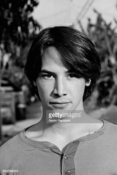 Keanu Reeves during the filming of Bill and Ted's Excellent Adventure
