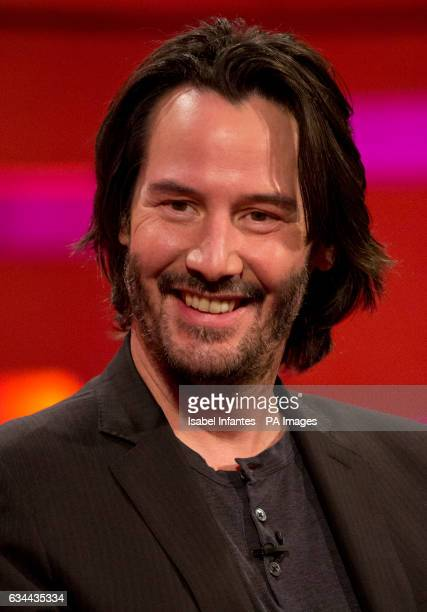 Keanu Reeves during the filming of the Graham Norton Show at The London Studios south London to be aired on BBC One on Friday