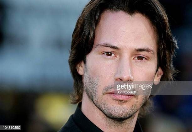 Keanu Reeves during The Matrix Reloaded Premiere Arrivals at The Mann Village Theater in Westwood California United States