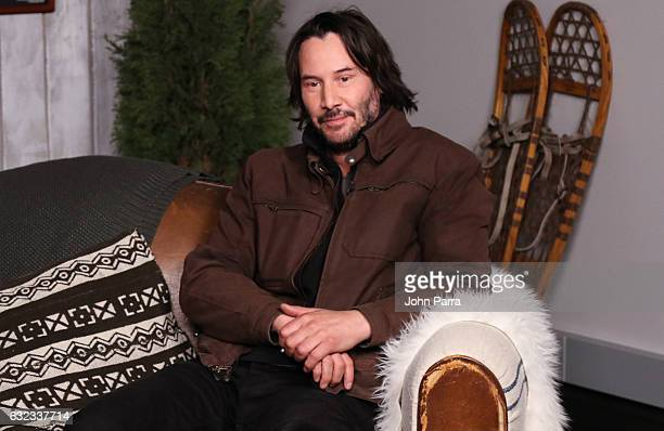 Keanu Reeves from the film 'To The Bone' attends the The Hollywood Reporter 2017 Sundance Studio At Sky Strada Day 2 2017 Park City on January 21...