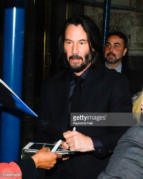 Keanu Reeves is seen arrving at John Wick Chapter 3 Parabellum' film premiere in brooklyn on May 9 2019 in New York City