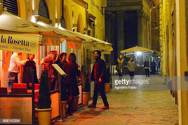 Keanu Reeves is seen on January 21 2016 in Rome Italy