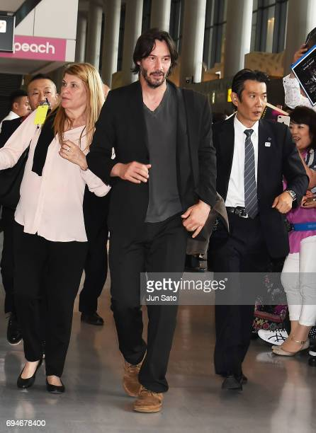 Keanu Reeves is seen upon arrival at Narita International Airport on June 11 2017 in Narita Japan
