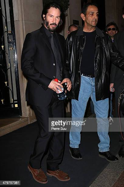 Keanu reeves leaves his hotel on March 20 2014 in Paris France