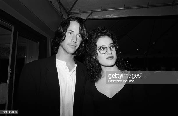 Keanu Reeves left and MTV VJ Kennedy at a party for Kenneth Branagh's film version of Shakespeare's Much Ado About Nothing in May 1993 in New York...
