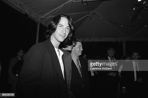 Keanu Reeves left at a party for Kenneth Branagh's film version of Shakespeare's Much Ado About Nothing in May 1993 in New York City New York Kenneth...
