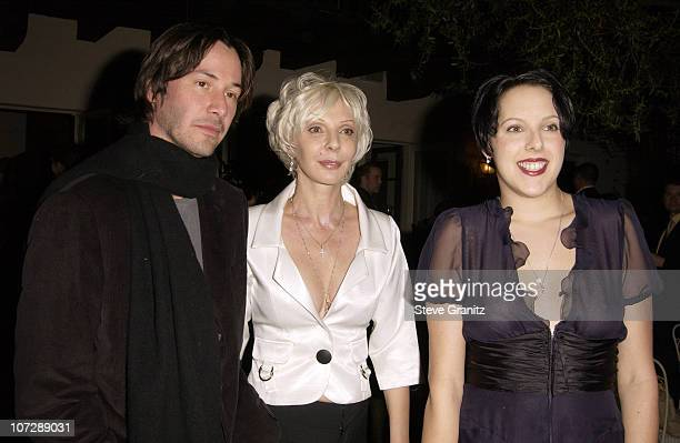 Keanu Reeves Mom Sister during Women's Wear Daily The Ultimate Fashion Authority and Diamond Information Center Host 'Dazzling With Color and...