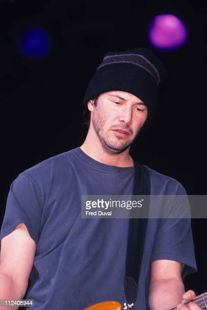 Keanu Reeves playing with Dogstar at the Glastonbury Festival 1999