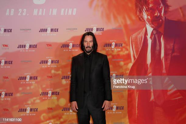 Keanu Reeves poses at the John Wick Chapter 3 Parabellum photocall at Hotel De Rome on May 6 2019 in Berlin Germany
