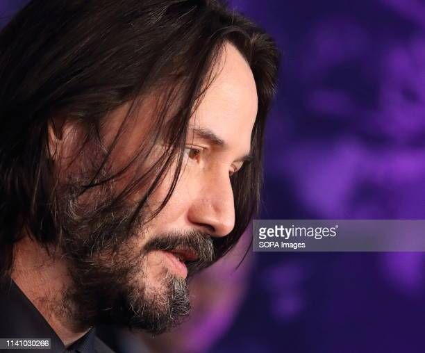 Keanu Reeves seen attending the John Wick Chapter 3 Parabellum a special film screening at The Ham Yard Hotel Denman Street