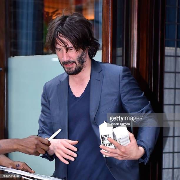 Keanu Reeves seen out in Manhattan on June 23 2017 in New York City