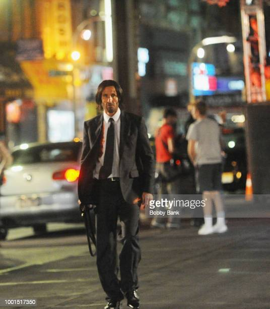 Keanu Reeves stunt double on the set of John Wick 3 Parabellum on July 18 2018 in Brooklyn NY