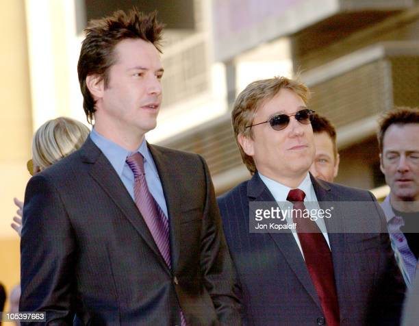Keanu Reeves with his agent CAA's Kevin Huvane during Keanu Reeves Honored With a Star on the Hollywood Walk of Fame at Hollywood Highland in...