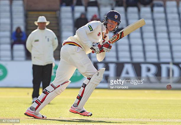 Keaton Jennings of Durham during the LV County Championship match between Durham CCC and Sussex CCC at The Emirates Durham ICG on April 26 2015 in...