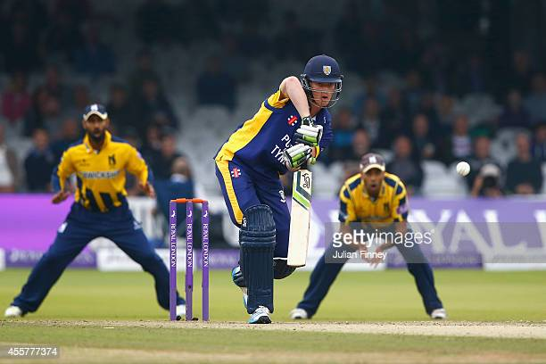 Keaton Jennings of Durham in action during the Royal London OneDay Cup 2014 Final at Lord's Cricket Ground on September 20 2014 in London England