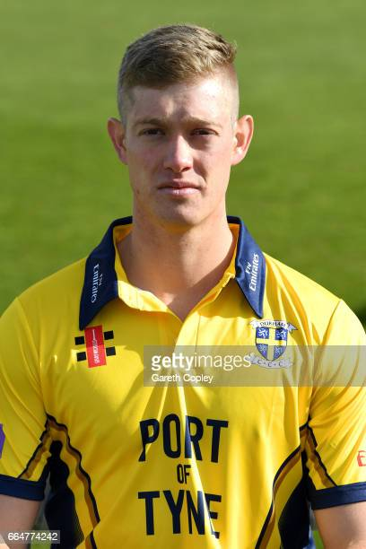 Keaton Jennings of Durham poses for a portrait during their press day at The Riverside on April 5 2017 in ChesterleStreet England