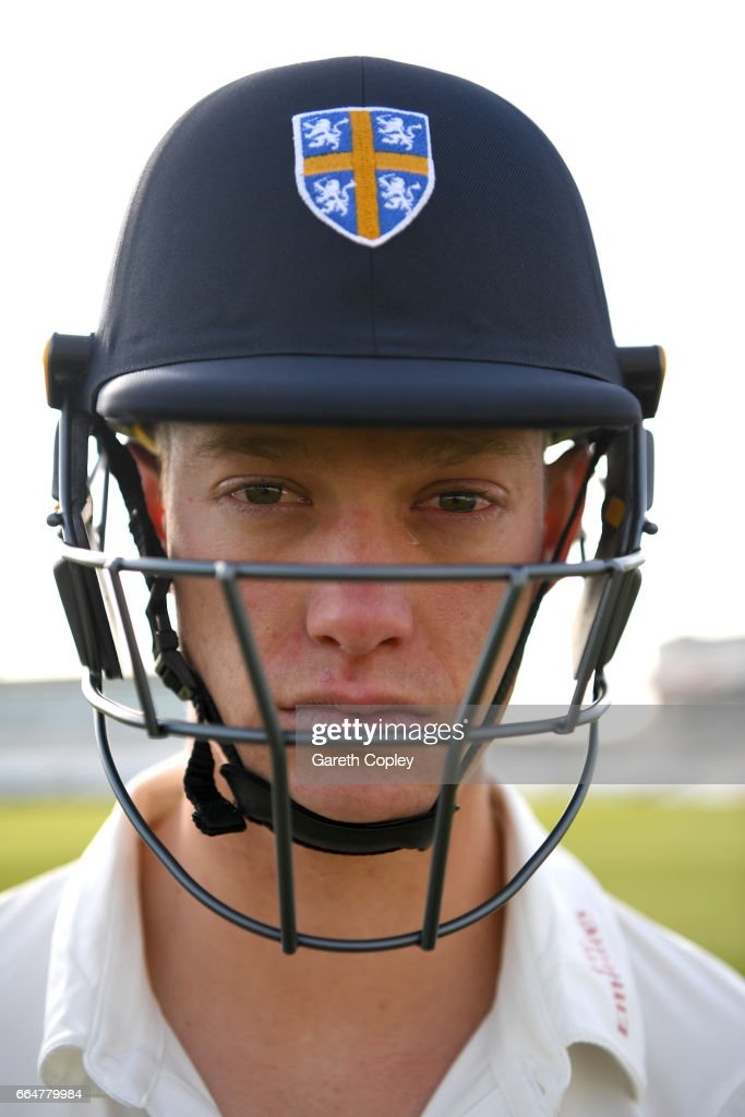 Keaton Jennings of Durham poses for a portrait during their press day at The Riverside on April 5, 2017 in Chester-le-Street, England.