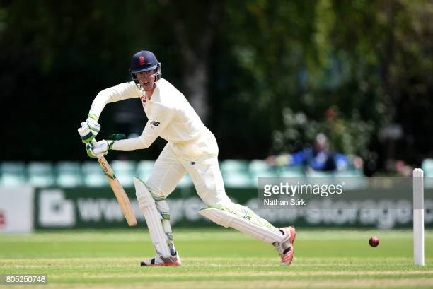 Keaton Jennings of England Lions batting during the tour match between England Lions and South Africa A at New Road on July 1 2017 in Worcester...