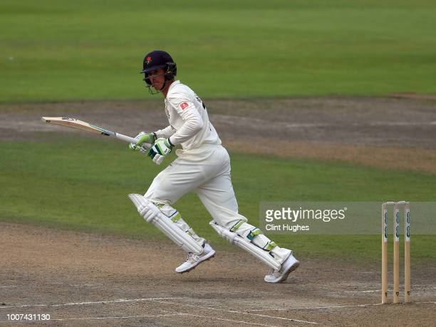 Keaton Jennings of Lancashire bats during day two of the Specsavers County Championship division one match between Lancashire and Yorkshire at...